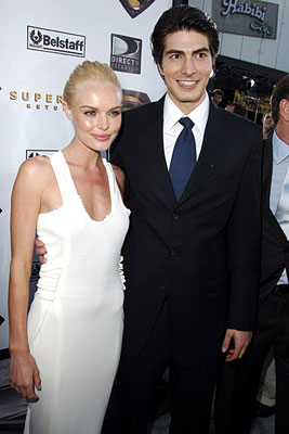 Premiere: Kate Bosworth and Brandon Routh at the Westwood premiere of Warner Bros. Pictures' Superman Returns - 6/21/2006