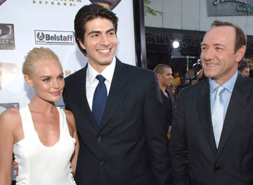 Premiere: Kate Bosworth, Brandon Routh and Kevin Spacey at the Westwood premiere of Warner Bros. Pictures' Superman Returns - 6/21/2006