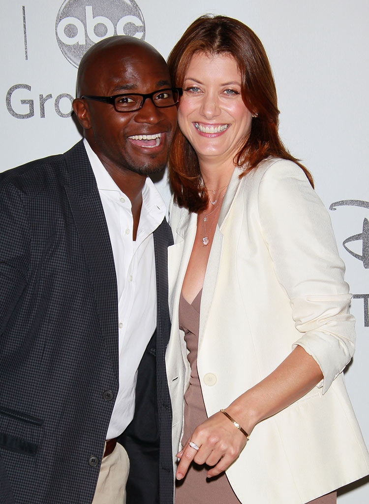"""Private Practice's"" Taye Diggs and Kate Walsh arrive at NBC Universal's 2010 TCA Summer Party on July 30, 2010 in Beverly Hills, California."