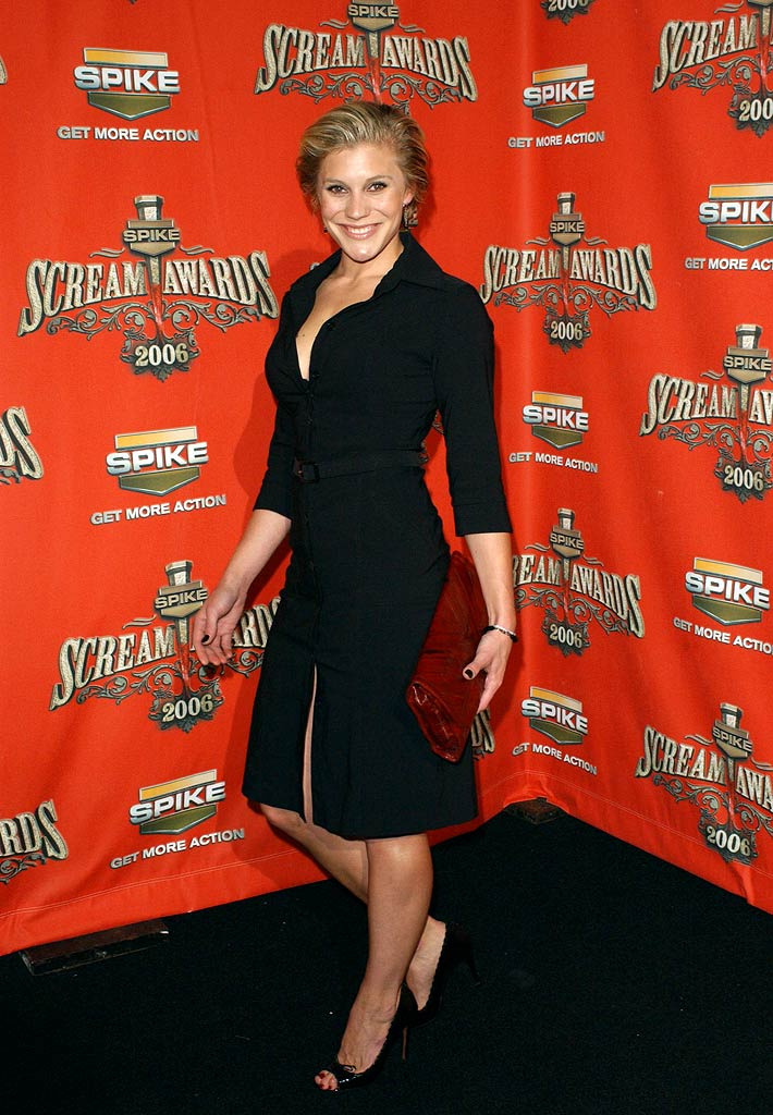 "Katee Sackhoff of Bionic Woman at the Spike TV's ""Scream Awards 2006""."