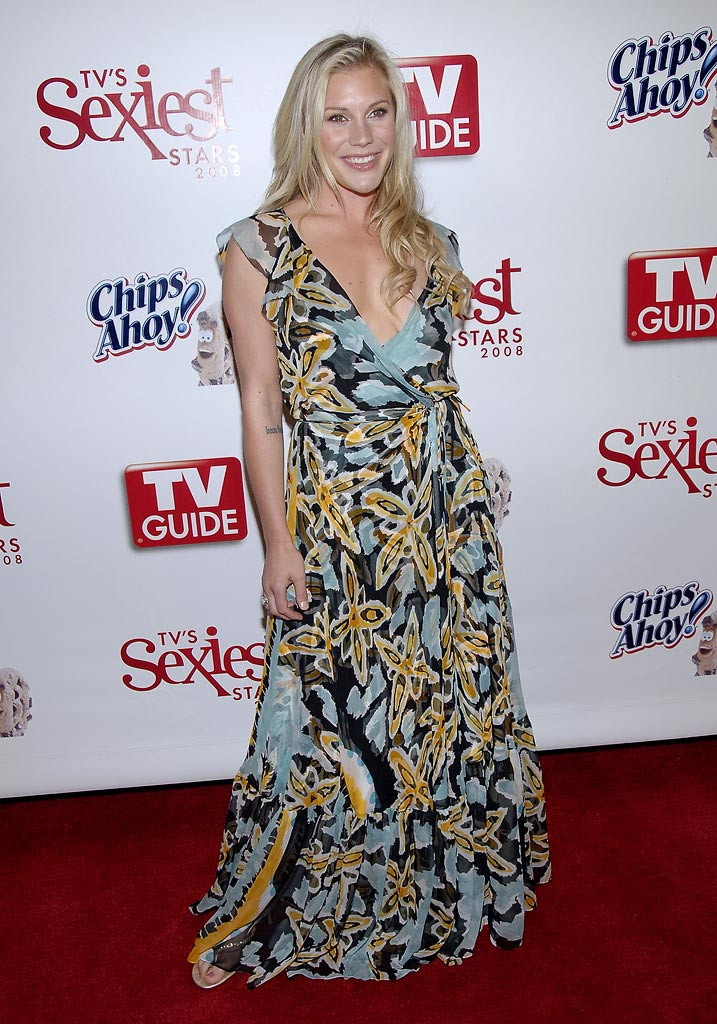 Katee Sackoff arrives at TV Guide's Sexiest Stars 2008 on May 1, 2008 at Katsuya and S Bar in Hollywood, California.