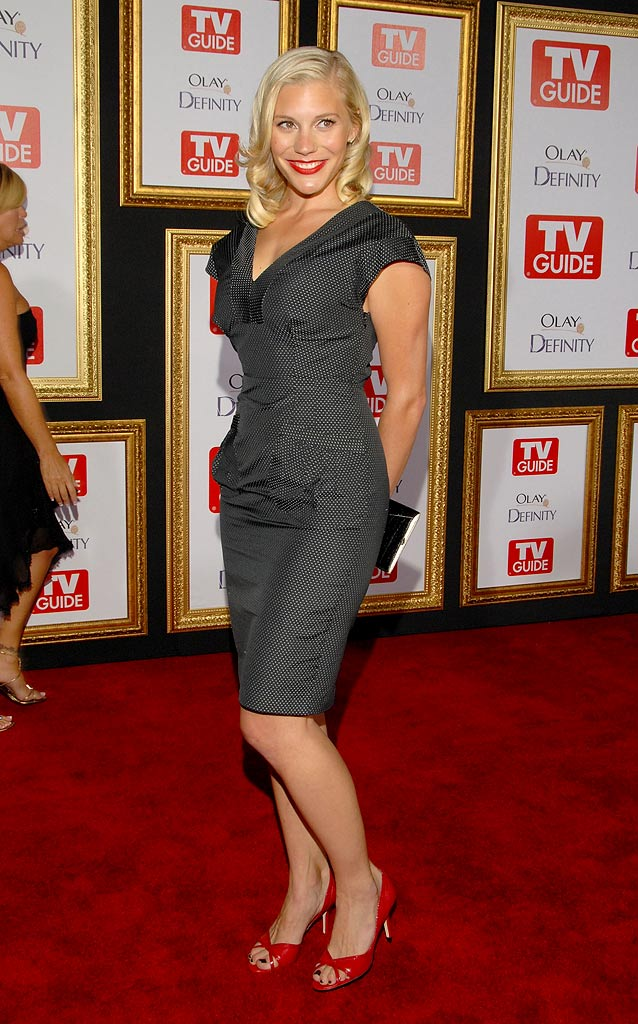 Katee Sackoff arrives at the The 59th Primetime EMMY Awards TV Guide After Party at Les Deux on September 16, 2007 in Hollywood, California.