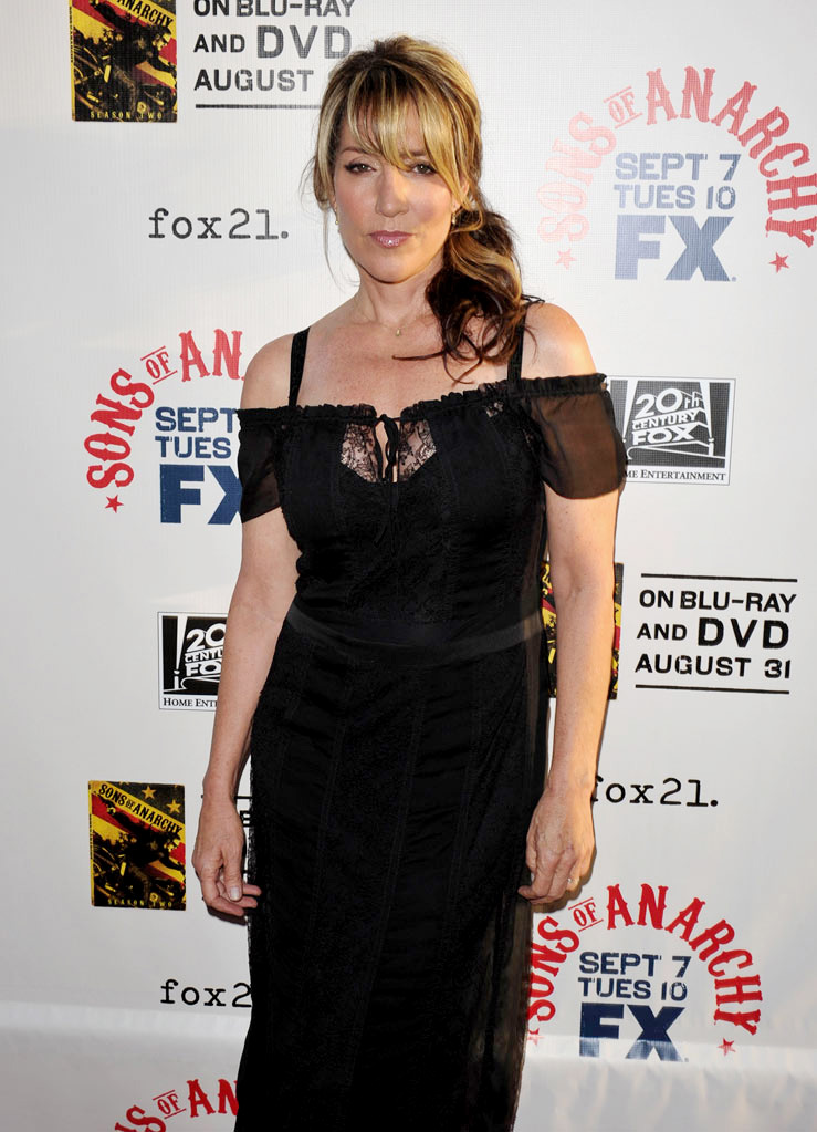 "Katey Sagal attends FX's ""Sons Of Anarchy"" Season 3 premiere on August 30, 2010, in Hollywood."