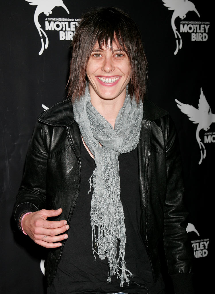 "Katherine Moennig attends Pantheon's book party for ""I Live Here"" at The Motley Bird Nest on October 14, 2008 in Los Angeles, California."