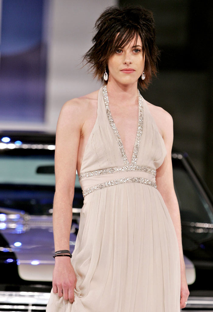 Katherine Moennig walks onstage at the General Motors Ten event on February 28, 2006 in Hollywood, California.