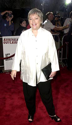 Premiere: Kathy Bates at the Westwood premiere of Warner Brothers' American Outlaws - 8/14/2001