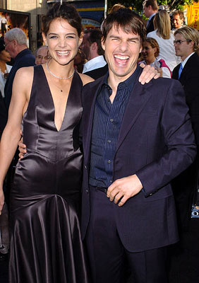 Premiere: Katie Holmes and Tom Cruise at the Hollywood premiere of Warner Bros. Pictures' Batman Begins - 6/6/2005