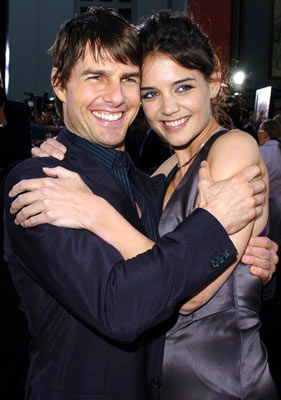 Premiere: Tom Cruise and Katie Holmes at the Hollywood premiere of Warner Bros. Pictures' Batman Begins - 6/6/2005