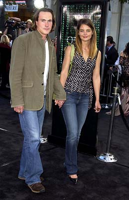 Premiere: Chris Klein best beware of the pointy shoes of Katie Holmes at the Hollywood premiere of Warner Brothers' The Matrix: Reloaded - 5/7/2003