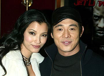 Premiere: Kelly Hu and Jet Li at the New York premiere of Warner Brothers' Cradle 2 The Grave - 2/24/2003