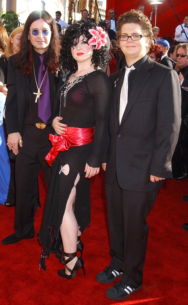 Ozzy Osbourne , Kelly Osbourne and Jack Osbourne at The 54th Annual Primetime Emmy Awards.