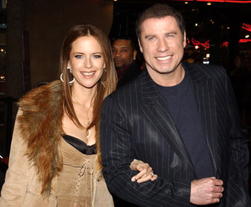 Premiere: Kelly Preston and John Travolta at the Hollywood premiere of MGM's Be Cool - 2/14/2005