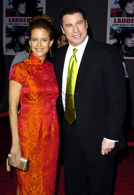 Premiere: Kelly Preston and John Travolta at the Hollywood premiere of Touchstone Pictures' Ladder 49 - 9/20/2004
