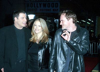 Premiere: John Travolta, Kelly Preston and Quentin Tarantino at the Mann's Chinese Theater premiere of Warner Brothers' Battlefield Earth - 5/10/2000