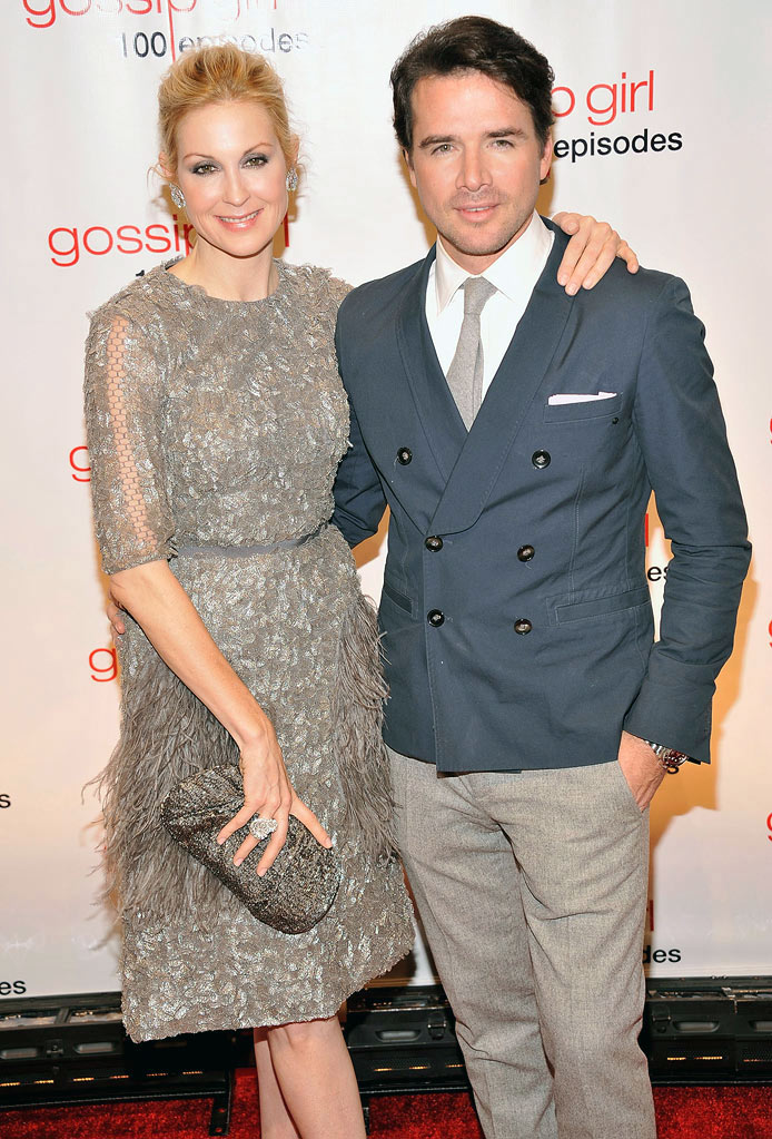 "Kelly Rutherford and Matthew Settle attend the ""Gossip Girl"" 100 episode celebration at Cipriani Wall Street on November 19, 2011 in New York City."