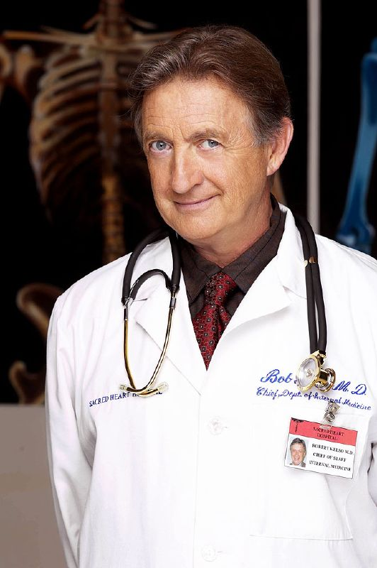 Ken Jenkins as Dr. Kelso on NBC's Scrubs.