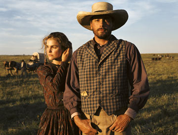 Keri Russell and Skeet Ulrich TNT's Into the West