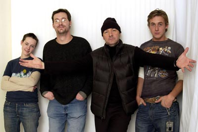 Jena Malone, Matthew Ryan Hoge, Kevin Spacey and Ryan Gosling The United States of Leland Sundance Film Festival 1/18/2003