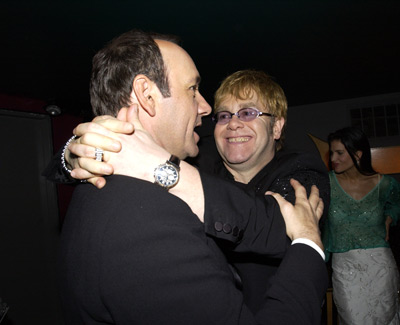 Kevin Spacey and Elton John Elton John AIDS Foundtation In-Style Party Hollywood, CA 3/24/2002
