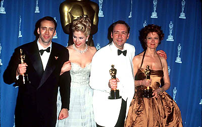 Nicolas Cage, Mira Sorvino, Kevin Spacey and Susan Sarandon 68th Academy Awards Los Angeles, CA 3/25/1996