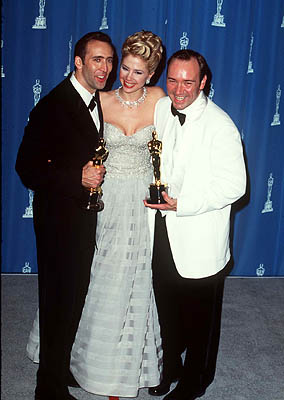 Nicolas Cage, Mira Sorvino and Kevin Spacey 68th Academy Awards Los Angeles, CA 3/25/1996