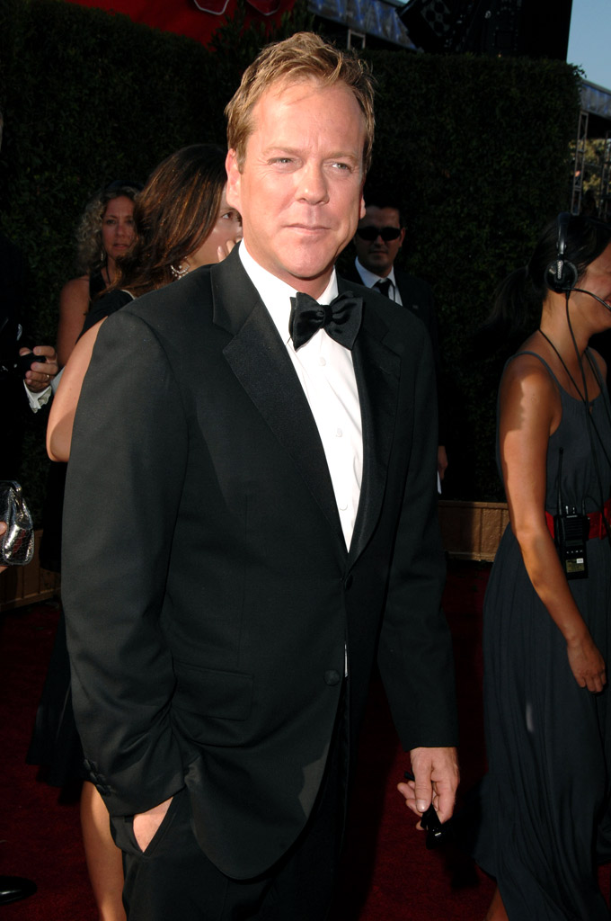 Kiefer Sutherland arrives at the 59th Annual Primetime Emmy Awards at the Shrine Auditorium on September 16, 2007 in Los Angeles, California.
