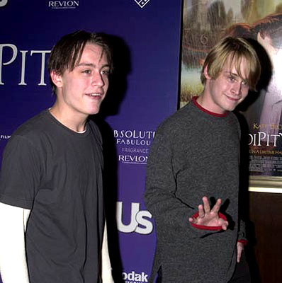 Premiere: Kieran Culkin and Macaulay Culkin at the New York premiere of Serendipity - 10/3/2001