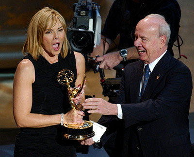 Kim Cattrall and Tim Conway 53rd Annual Emmy Awards - 11/4/2001