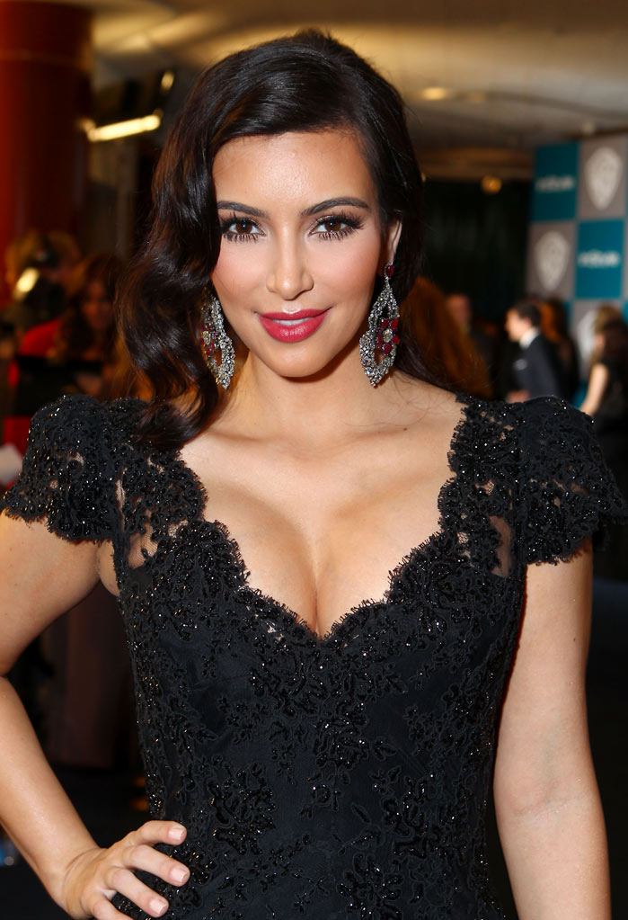 Kim Kardashian attends the InStyle and Warner Bros. 69th Annual Golden Globe Awards Post-Party at The Beverly Hilton hotel on January 15, 2012 in Beverly Hills, California.