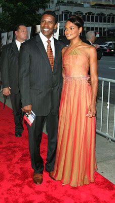 Premiere: Denzel Washington and Kimberly Elise at the New York premiere of Paramount Pictures' The Manchurian Candidate - 7/19/2004