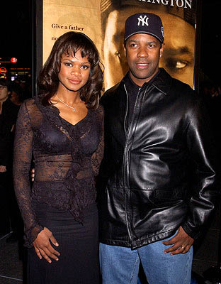 Premiere: Kimberly Elise and Denzel Washington at the LA premiere for New Line's John Q - 1/7/2002