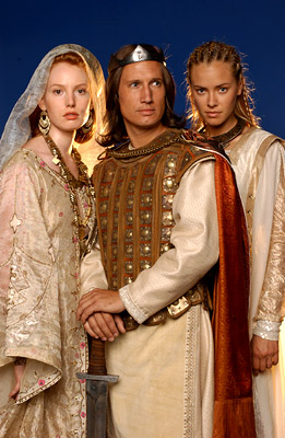 "Alicia Witt as Kriemhild, Benno Furmann as Siegfried, Kristanna Loken as Brunnhild Sci-Fi's ""Dark Kingdom"""