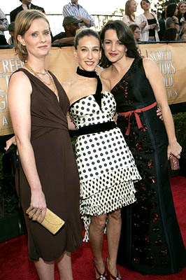 Cynthia Nixon, Sarah Jessica Parker and Kristin Davis Screen Actors Guild Awards - 2/5/2005
