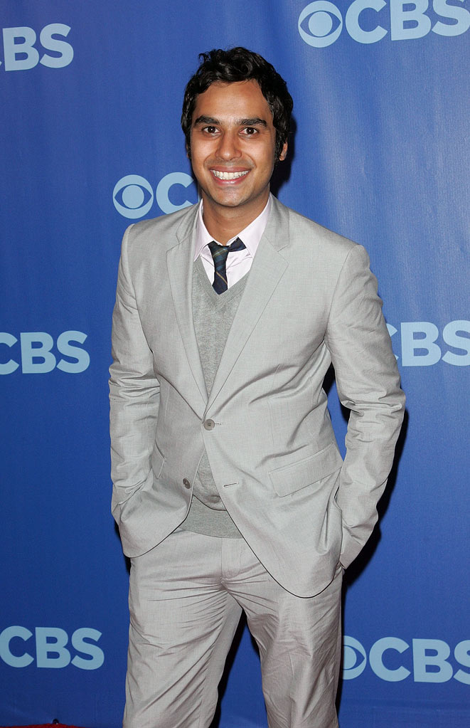 "Kunal Nayyar (""Big Bang Theory"") attends the 2010 CBS Upfront at The Tent at Lincoln Center on May 19, 2010 in New York City."