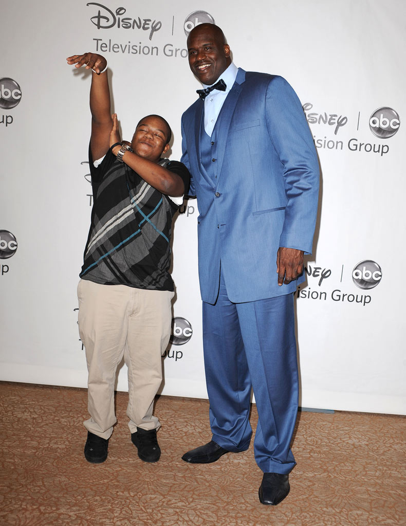 "Kyle Massey and ""Shaq Vs.'s"" Shaquille O' Neal arrive at the Disney/ABC Television 2010 TCA Summer Press Tour on August 1, 2010 in Beverly Hills, California."