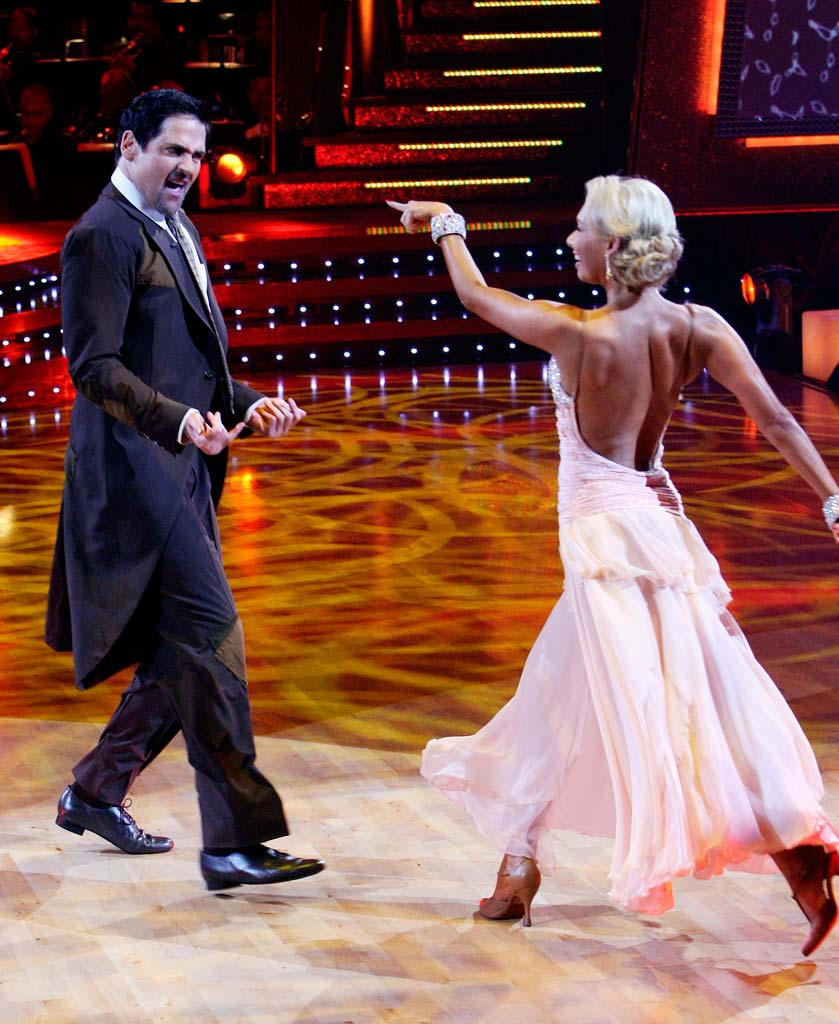 Mark Cuban and Kym Johnson perform a dance in the 5th season of Dancing with the Stars.