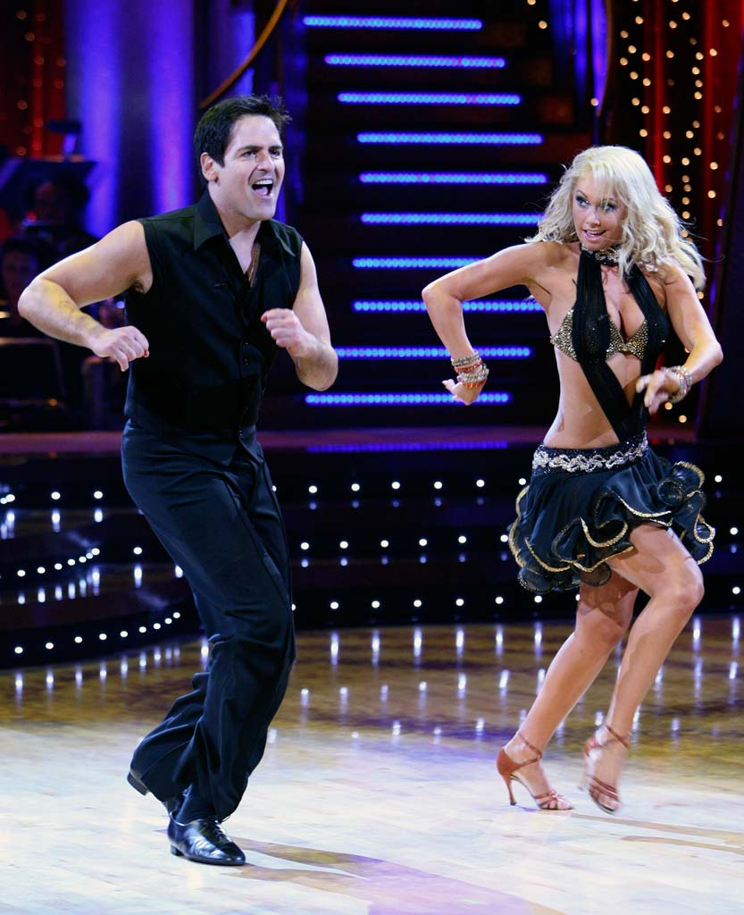 Mark Cuban and Kym Johnson perform a dance on the 5th season of Dancing with the Stars.