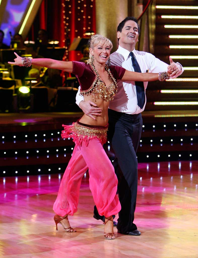 Kym Johnson and Mark Cuban perform a dance on the 5th season of Dancing with the Stars.