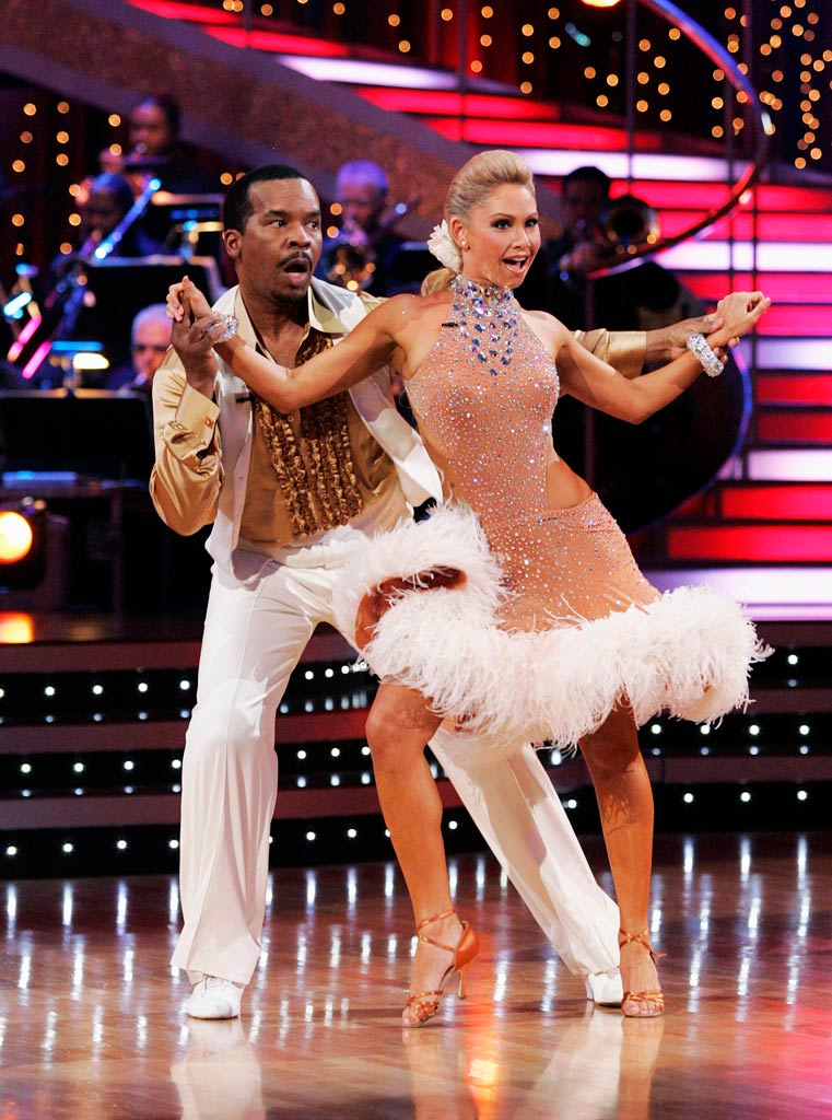 "David Alan Grier and Kym Johnson perform the Salsa to ""El Cumbanchero"" by Angel Melendez and the 911 Orchestra on ""Dancing with the Stars."""