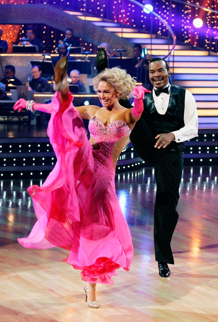 "David Alan Grier and Kym Johnson perform the Foxtrot to ""Come Rain or Come Shine"" by Natalie Cole on ""Dancing with the Stars."""