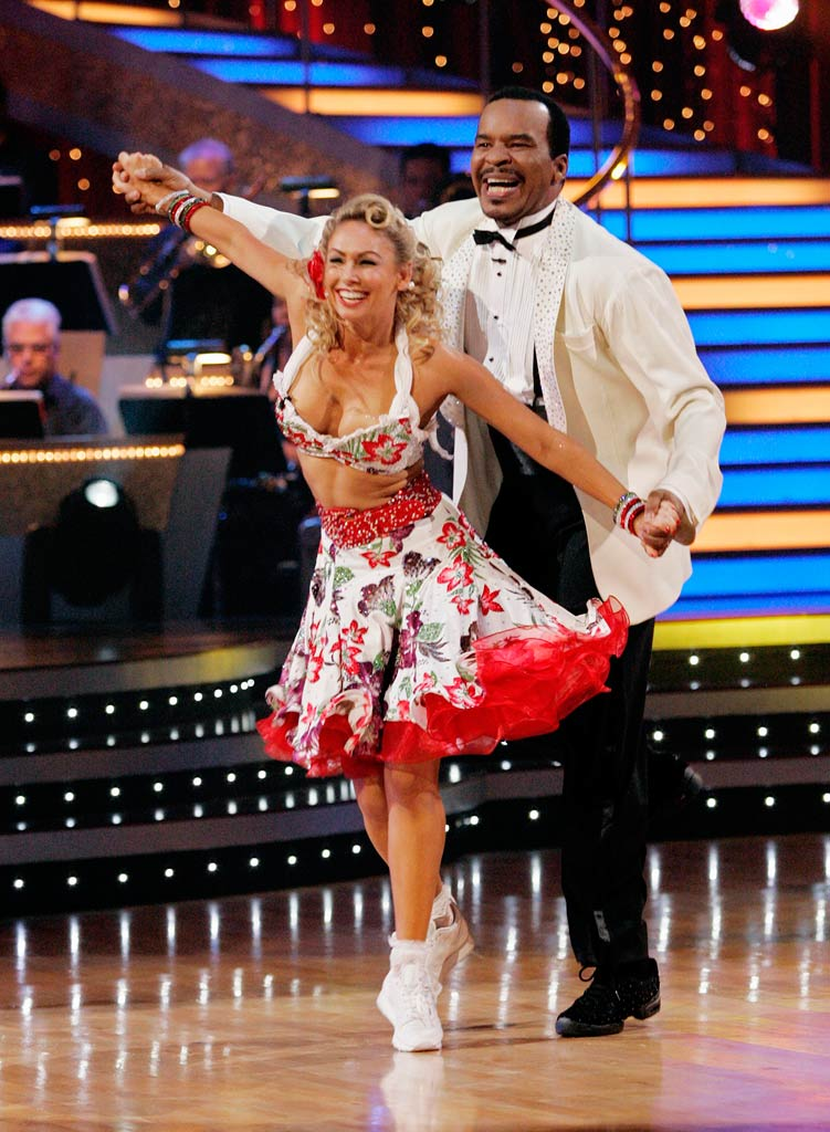 "David Alan Grier and Kym Johnson perform the Lindy Hopto ""Bandstand Boogie"" by Barry Manilow on ""Dancing with the Stars."""