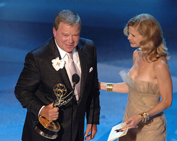 "William Shatner and Kyra Sedgwick Outstanding Supporting Actor ""Boston Legal"" Emmy Awards - 9/18/2005"