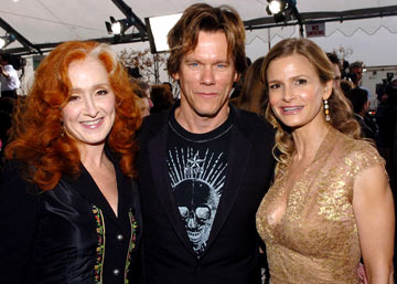 Bonnie Raitt, Kevin Bacon and Kyra Sedgwick The 47th Annual GRAMMY Awards - Arrivals Staples Center - Los Angeles, CA - 2/13/05