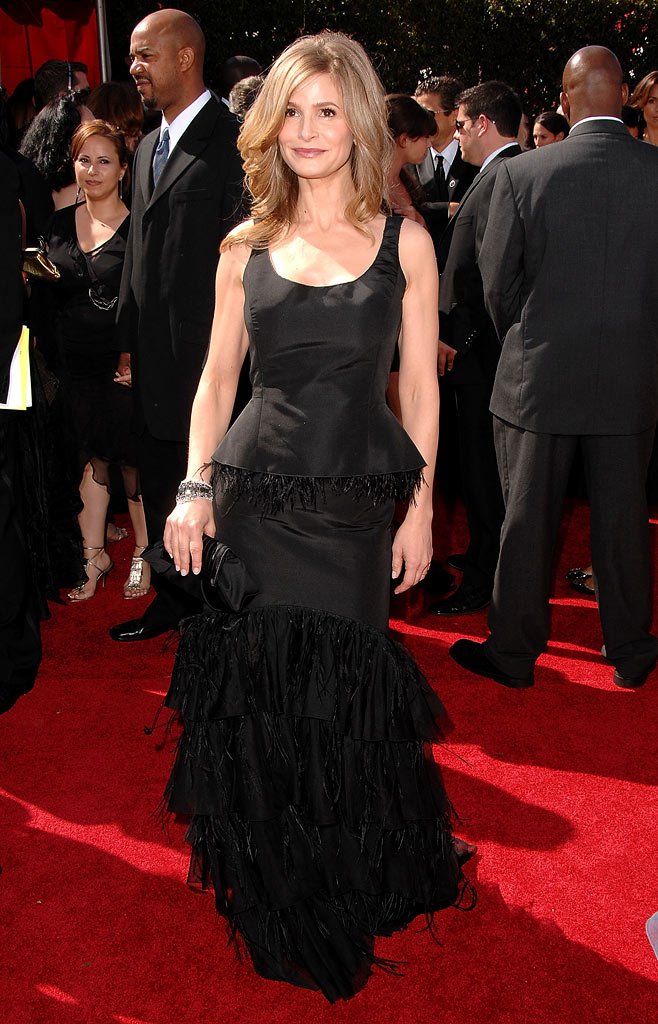 Kyra Sedgwick arrive at the 59th Annual Primetime Emmy Awards at the Shrine Auditorium on September 16, 2007 in Los Angeles, California.