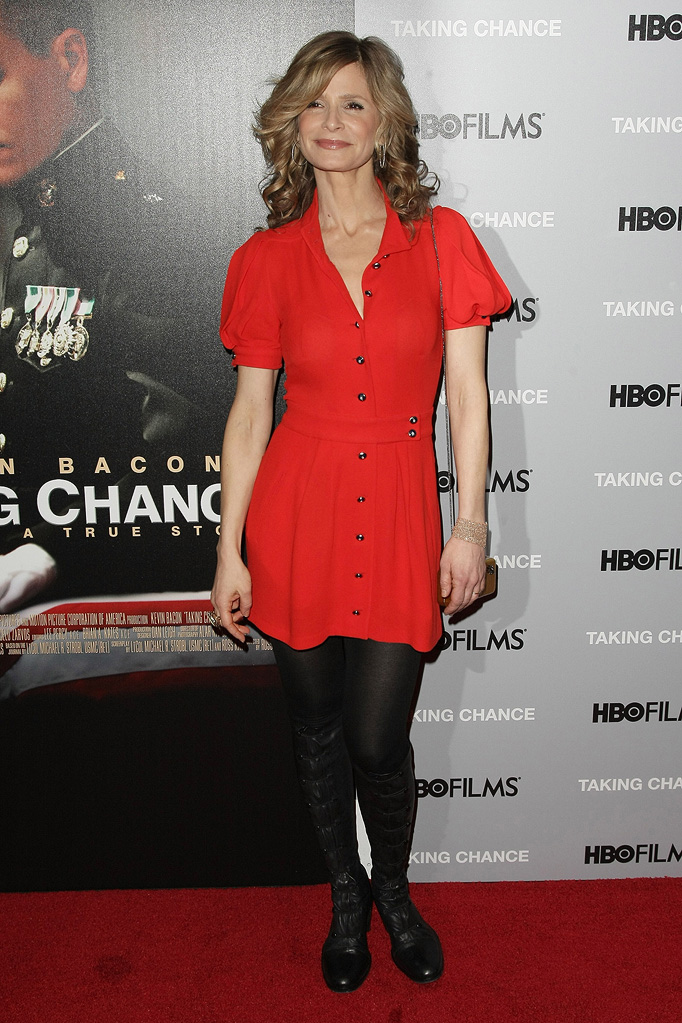"Kyra Sedgewick attends the premiere of ""Taking Chance"" on February 11, 2009 in New York City."