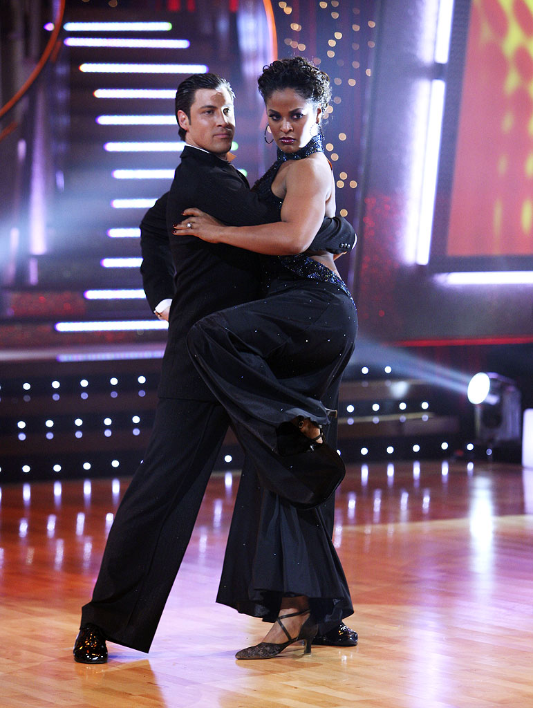 Laila Ali and professional dancer, Maksim Chmerkovskiy perform their third dance in the 4th season of Dancing with the Stars.