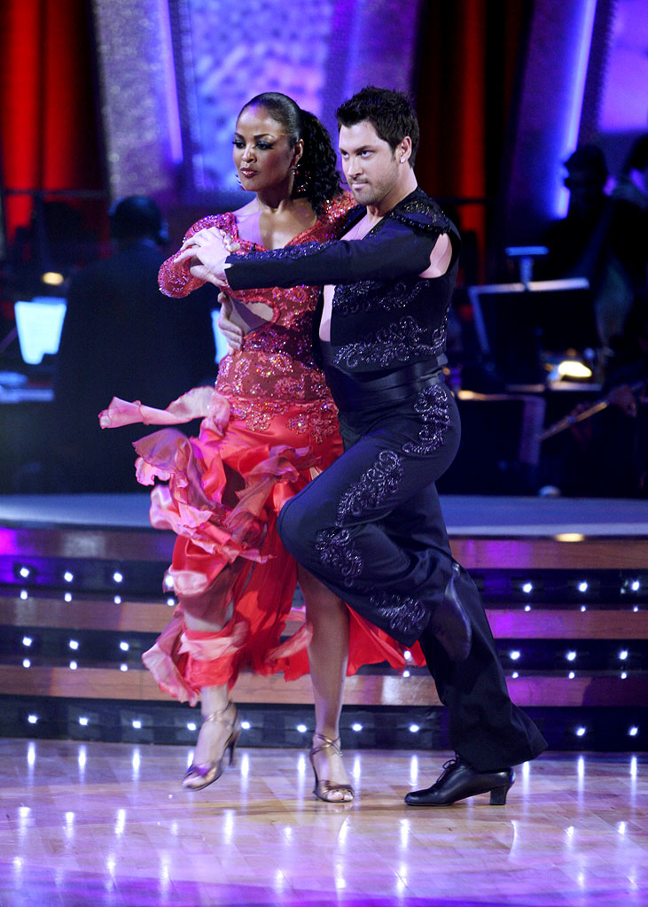 Laila Ali and professional dancer, Maksim Chmerkovskiy perform their fourth dance in the 4th season of Dancing with the Stars.