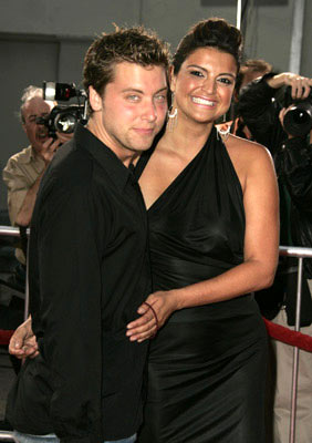 Premiere: Lance Bass and Jennifer Gimenez at the Hollywood premiere of Dreamworks' Anchorman - 6/28/2004
