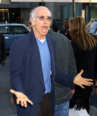 Premiere: Larry David at the Beverly Hills special screening of Lions Gate Films' Fahrenheit 9/11 - 6/8/2004