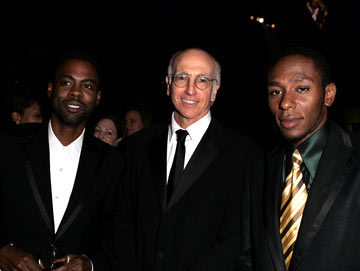Chris Rock, Larry David and Mos Def The 56th Annual Primetime Emmy Awards - Governors Ball
